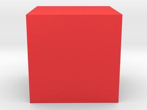 Cube in Red Processed Versatile Plastic