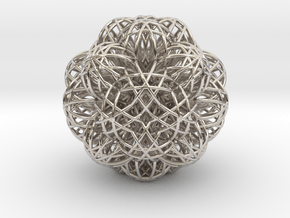 Life Fusion Spark Life in Rhodium Plated Brass