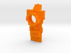 Modulus Muzzle Attachment Plate for Nerf Kronos in Orange Processed Versatile Plastic