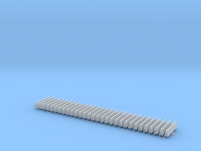 Road Barrier Concrete straight Set in Smoothest Fine Detail Plastic: 1:200