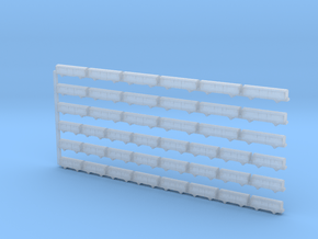 Set of Freight Wagons: Gbs, Gs in Smoothest Fine Detail Plastic