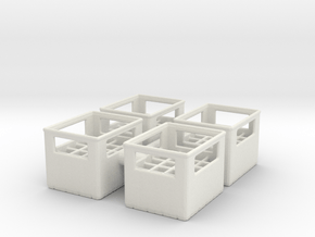 Bottle Crate (4 pieces) 1/24 in White Natural Versatile Plastic