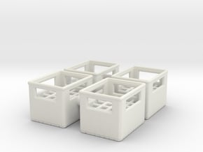 Bottle Crate (4 pieces) 1/35 in White Natural Versatile Plastic