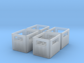 Bottle Crate (4 pieces) 1/100 in Smooth Fine Detail Plastic