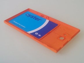The Other Side Contactless Card Experimental in Orange Processed Versatile Plastic