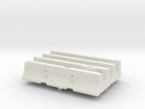 Jersey barrier (x4) 1/285 in White Natural Versatile Plastic