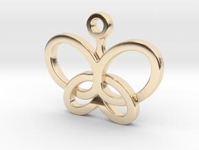 Custom Logo Charm in 14K Yellow Gold