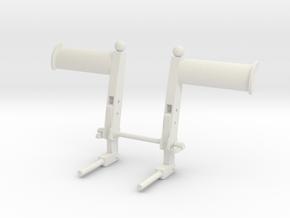 EC135/145 Pedals 1/4 in White Natural Versatile Plastic