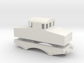 alvf armored locomtive 1916 Locotracteur 1/76  in White Natural Versatile Plastic