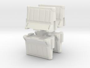Interlocking traffic barrier (x4) 1/87 in White Natural Versatile Plastic
