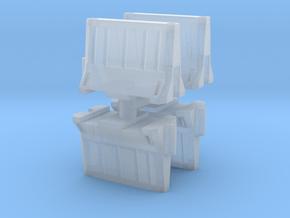 Interlocking traffic barrier (x4) 1/160 in Smooth Fine Detail Plastic