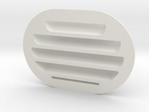 EC135 Lateral Vent 1/4 in White Natural Versatile Plastic