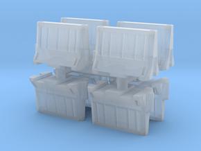 Interlocking traffic barrier (x8) 1/160 in Smooth Fine Detail Plastic