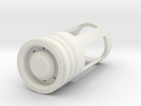 Blade Plug - Gamma in White Natural Versatile Plastic