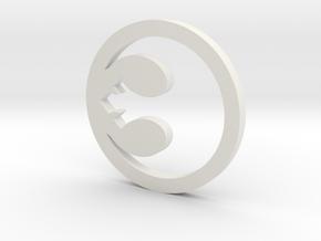 Rebel Symbol in White Natural Versatile Plastic