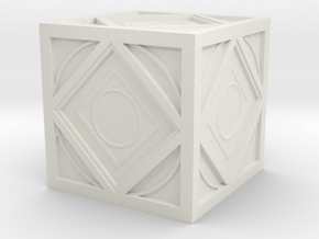 Jedi Holocron Mini in White Natural Versatile Plastic