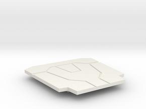 Starkiller Style Belt Buckle in White Natural Versatile Plastic
