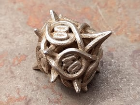Thorn d10 Decader V2 in Polished Bronzed-Silver Steel