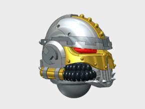 10x Base - Iron Skull Helmets in Smooth Fine Detail Plastic