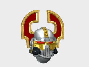 Blood Hunter - Iron Skull Helmets in Smooth Fine Detail Plastic: Medium