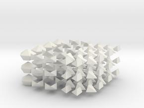 Regular Astrominx modified from Starminx in White Natural Versatile Plastic