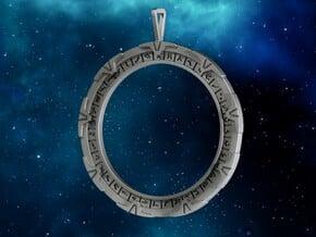 Stargate Pendant in Polished Silver: Large