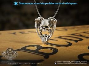 Planchette Bone Pendant in Natural Silver