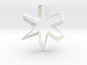 The Dancer (Large) in White Natural Versatile Plastic