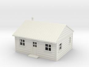 N-SCALE (1:150) LOG CABIN MODEL - BT-N-1954 in White Natural Versatile Plastic