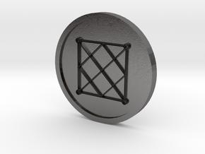Seal of Mercury Coin in Polished Nickel Steel
