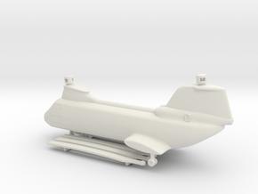 Boeing Vertol CH-46 Sea Knight in White Natural Versatile Plastic: 1:160 - N