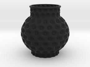 Vase 2017 in Black Natural Versatile Plastic