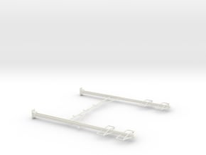 CATENARY PRR 4 TRACK 2-2 PHASE N SCALE  in White Natural Versatile Plastic