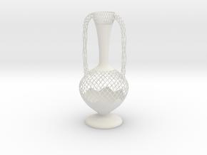 Vase SMGV1818 in White Natural Versatile Plastic
