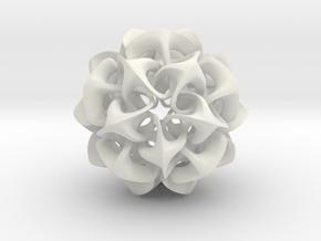 Rhombic Triacontahedron II, medium in White Natural Versatile Plastic