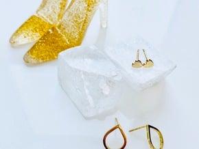 Tear Drop Post Earrings in 14k Gold Plated Brass