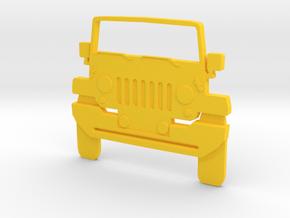 Jeep Art: Wrangler Toothpaste Pusher in Yellow Processed Versatile Plastic