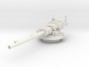 M1128 Stryker MGS Turret 1/100 in White Natural Versatile Plastic