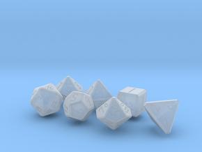 Elizabeths_Dice_Set_beveled_edges in Smoothest Fine Detail Plastic