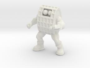 "Chex Warrior, Helmeted 1.75"", 35mm in White Natural Versatile Plastic: Medium"