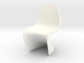 "Panton Chair 1:10 (1/2"") Scale  in White Processed Versatile Plastic"