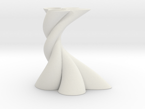 Bundle Vase in White Natural Versatile Plastic