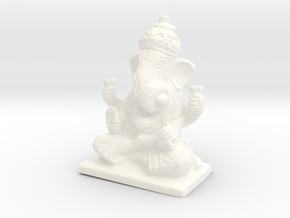 Lord Ganesha Statue in White Processed Versatile Plastic