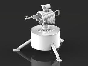 Rust turret servo version in White Natural Versatile Plastic