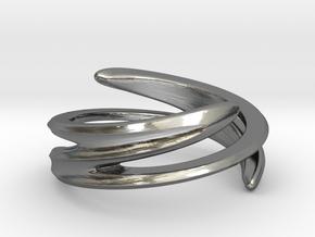 Fluid Twist (Inside diameter 16.6 mm) in Polished Silver