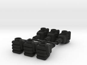 Baron Karza Fists 5mm Grip in Black Natural Versatile Plastic: Large
