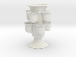 Vertical Garden Vase in White Natural Versatile Plastic