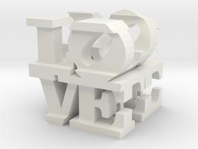 """love/life - medium (3"""") in White Natural Versatile Plastic"""