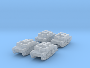 Scout and Bren Carrier shapeways 4pcs 1:700 in Smooth Fine Detail Plastic