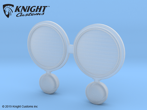 AW20004 Wraith Grill light lens in Smooth Fine Detail Plastic